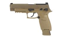 SIG SAUER P320-M17 .177 Pellet 430fps M1913 Accessory Rail Fixed Sights Coyote Tan 20rd Mag CO2 Pistol Airgun (AIR-M17-177)