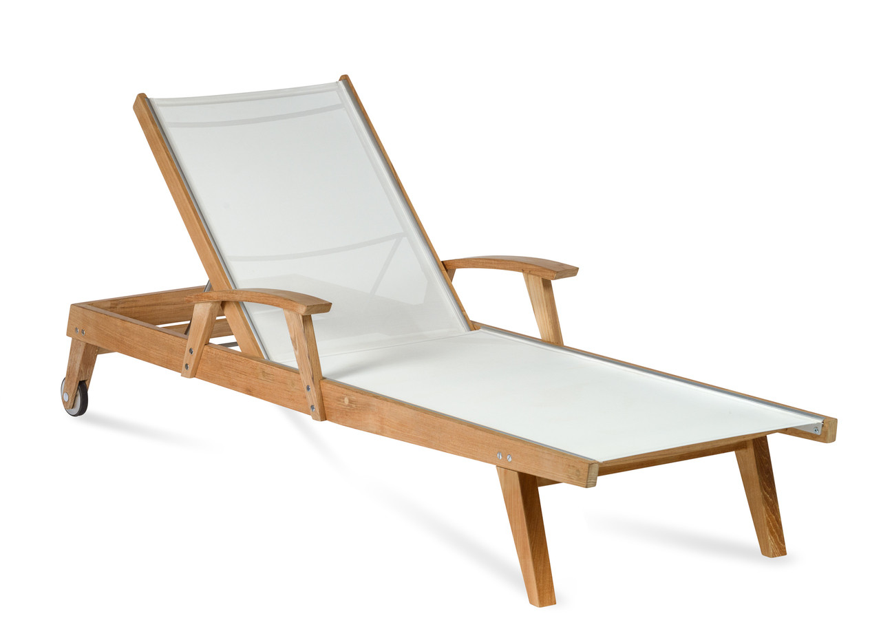 - CO9 Design Bayhead Sling Chaise Lounge - White