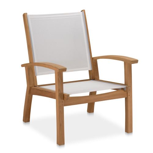 Bayhead Sling Club Chair, White BACKORDERED