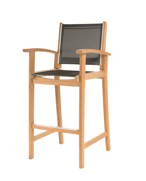 Bayhead Bar Chair with Arms and Grey Sling