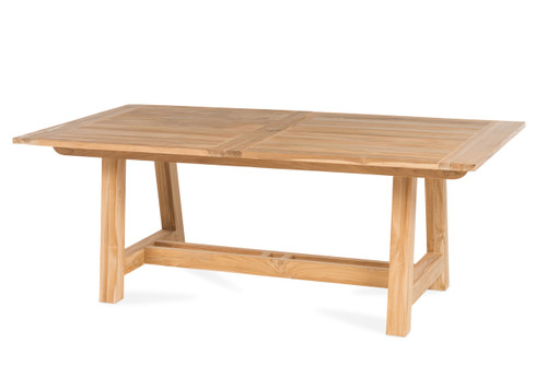 "Lakewood 118"" Extension Dining Table with Trestle Base - Natural Finish"
