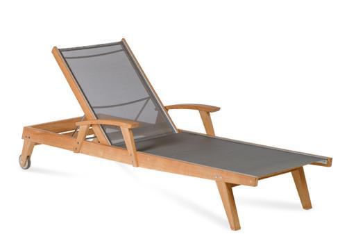 CO9 Design Bayhead Sling Chaise Lounge - Grey