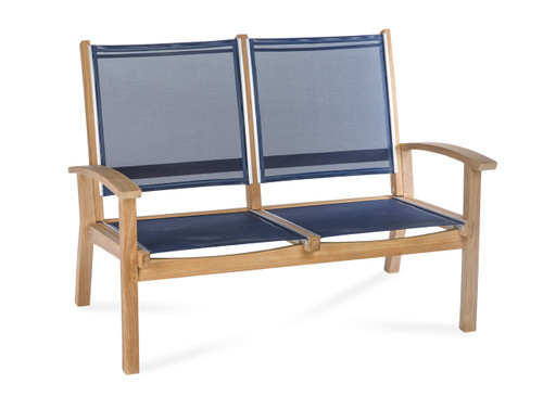 CO9 Design Bayhead Sling Loveseat - Navy