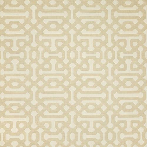 Fretwork Flax Fabric Swatch