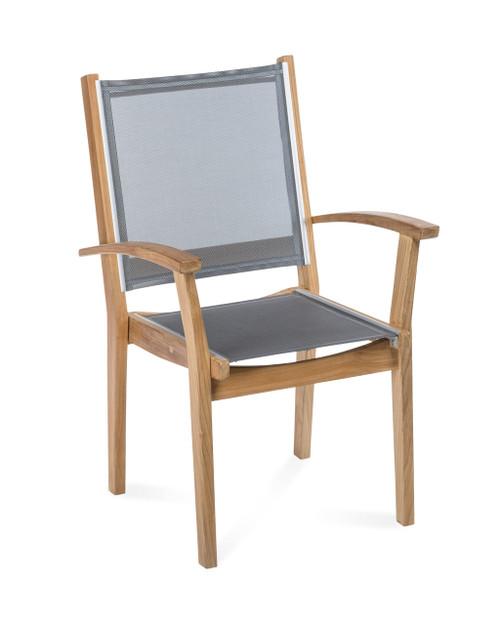 Bayhead Sling Stacking Armchair, Grey