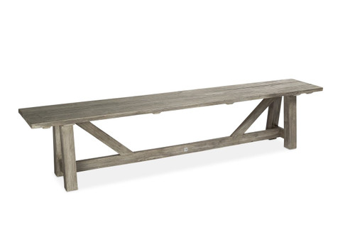 Lakewood 7' Backless Bench, Grey Finish