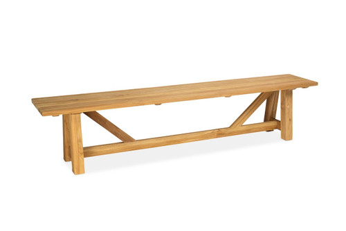 Lakewood 7' Backless Bench, Natural Teak