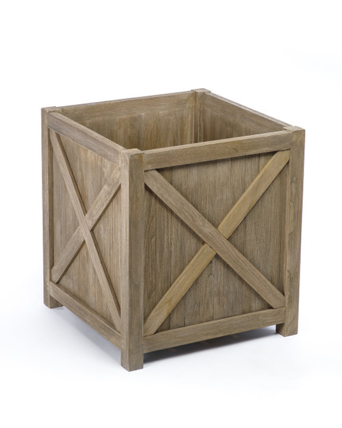 Lakewood Essential Medium Planter Box, Grey Finish