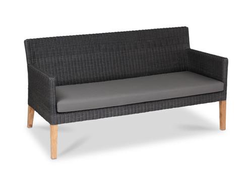Cape Sofa, Slate Wicker with Smoke Cushion