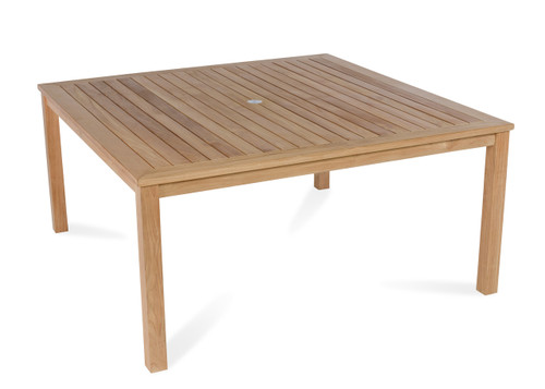 """Essential 60"""" Square Dining Table w/ Four Leg Base"""