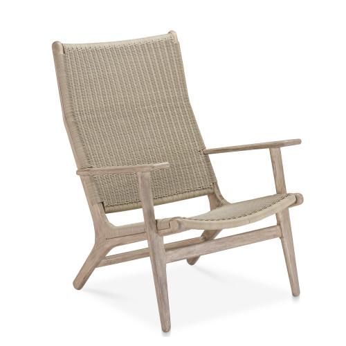 Dover Adirondack Chair, Grey W/ Grey Wicker