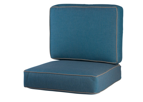 Soho/Jackson/Newport Seat & Back Cushion Set, Cast Lagoon w/ Spectrum Mushroom