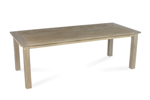 "Lakewood 90"" Dining Table w/ Four Leg Base, Grey Finish"