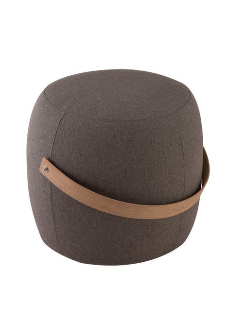 """20"""" Upholstered End Table / Pouf - Graphite"""