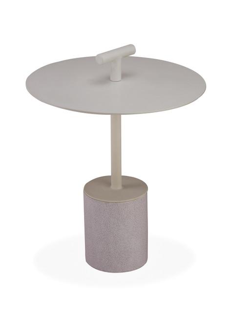 "Bayridge 18"" Side Table w/ Handle - Taupe"