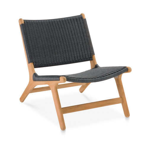 Arden Chair, Navy with Natural Teak - Set of 2