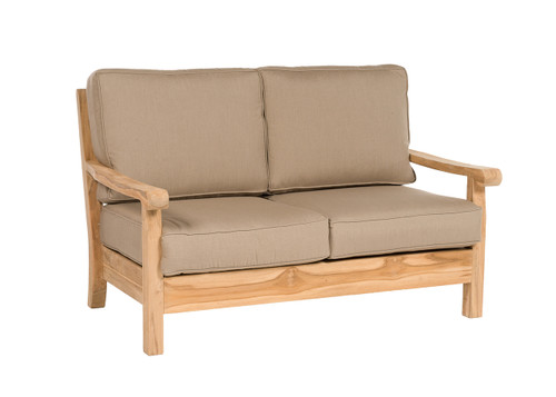 Loveseat shown with Spectrum Mushroom cushions