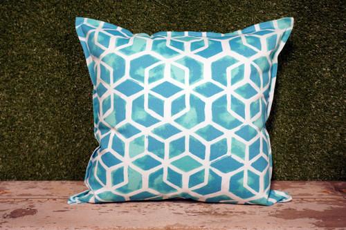 "Aqua Celtic Toss Pillow 22"" Square"