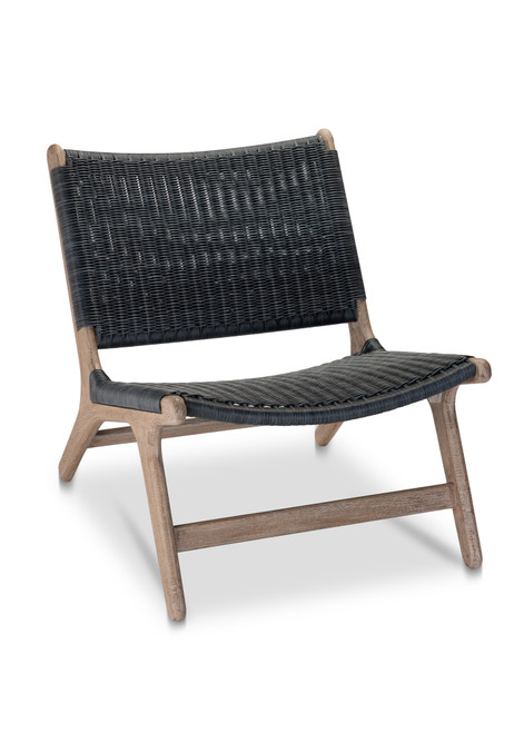 Arden Chair, Navy with Grey Teak - Set of 2