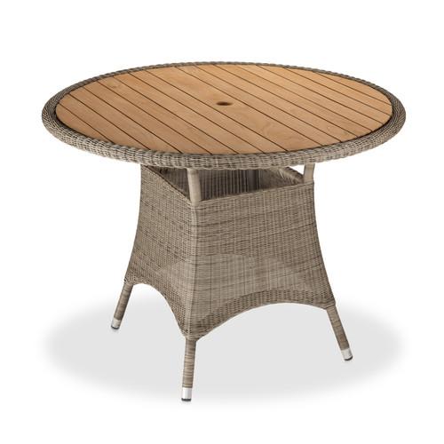 "Savannah 40"" Round Dining Table - White Coral, Grey"