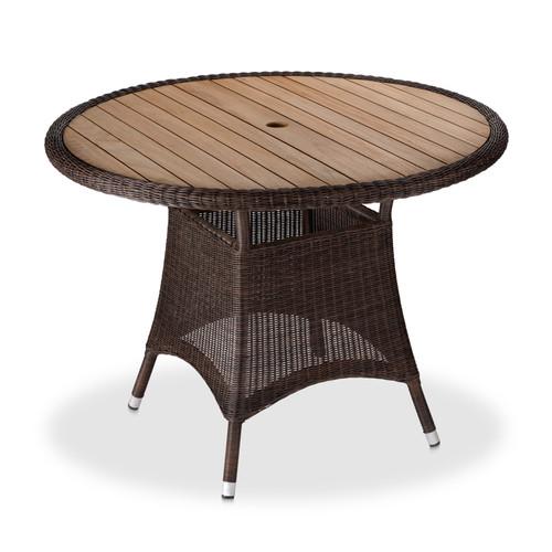 "Savannah 40"" Round Dining Table - Brown"