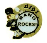 Band Rocks Lapel Pin
