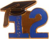 Class of 12' Blue Lapel Pin