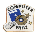 Computer Whiz Lapel Pin