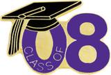 Class of 08' Purple Lapel Pin