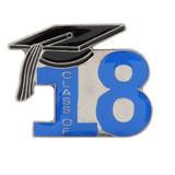 Class of 18' Blue Lapel Pin