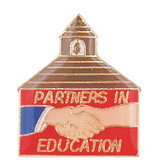 Partners In Education (schoolhouse) Lapel Pin