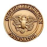 Georgia Republican Foundation (3D cast) Lapel Pin
