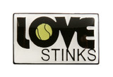 Love Stinks Tennis Lapel Pin