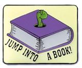 Jump into a Book Lapel Pin