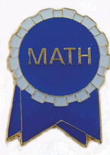 Math Ribbon (blue/white) Lapel Pin
