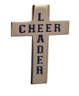 Cheerleader Cross Lapel Pin (CHR-207)