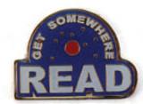 Get Somewhere Read Lapel Pin