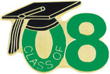 Class of 08' Green Lapel Pin