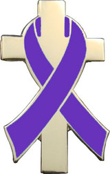 Purple Awareness Ribbon Lapel Pin