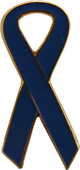 Awareness Ribbon Blue Lapel Pin
