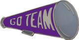 Go Team (Purple) Megaphone Lapel Pin (CHR-221)
