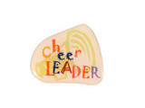 Cheer LEADER with megaphone background Lapel Pin (CHR-210)