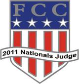 FCC 2011 Nationals Judge Lapel Pin