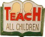 Teach All Children Lapel Pin