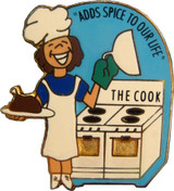 """The Cook """"Adds Spice To Our Life"""" Lapel Pin"""
