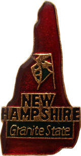 New Hampshire State Lapel Pin
