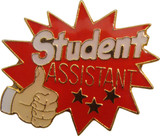 Student Assistant with Thumbs Up Lapel Pin