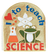 I (heart) to teach Science Lapel Pin