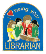 I (heart) Being your Librarian Lapel Pin