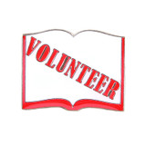 Volunteer Book Lapel Pin